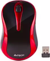 A4TECH WIRELESS MOUSE (BLACK / RED) G3-280N