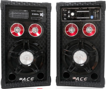 ACE BT8-3 8IN PROFESSIONAL SUB-WOOFER SPEAKER AMPLIFIER (BLACK)