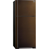 MITSUBISHI HYBRID 2 DR TOP MOUNT FREEZER REFRIGERATOR (GROSS 560L) (BROWN WAVE LINE) MR-F62EG
