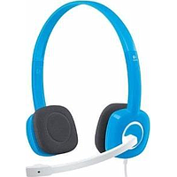 LOGITECH STEREO ON EAR HEADSET (BLUE) H150