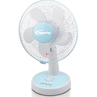 POWERPAC DESK FAN W OSCILLATION N TIMER (WHITE / BLUE) PPTF303