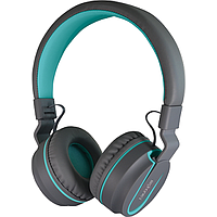 SONICGEAR AIRPHONE V BLUETOOTH HEADPHONES (GREY / TURQUOISE)