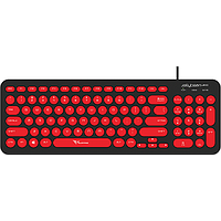 ALCATROZ JELLYBEAN U200 WIRED KEYBOARD (BLACK / RED)