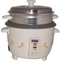 MORRIES RICE COOKER W STEAMER (0.6L) (350W) (WHITE) MS RC061
