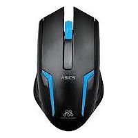 ALCATROZ ASIC 5 WIRED MOUSE (BLACK / BLUE)