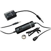 AUDIO-TECHNICA OMNIDIRECTIONAL CONDENSER LAVALIER MICROPHONE ATR3350IS