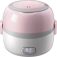 BEAR ELECTRIC PORTABLE MINI LUNCH BOX (1.3L) (WHITE / PINK) DFH-B13E5