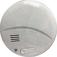 POWERPAC SMOKE DETECTOR W LIGHT (WHITE) PPSD125