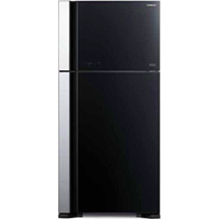 HITACHI 2 DR TOP MOUNT FREEZER REFRIGERATOR (GLASS BLACK) R-VG695P9MSX
