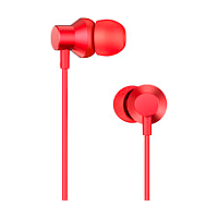 LENOVO METAL EARBUDS IN EAR EARPHONE (RED) HF130