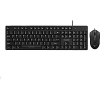 ALCATROZ XPLORER SILENT CLICK USB WIRED KEYBOARD N MOUSE (BLACK) C3300
