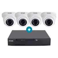 D-LINK 5MP DOME CCTV 4 CAMERAS + 4CH DVR RECORDER 4/8/16 CHANNEL