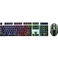 ALCATROZ X-CRAFT SPILL PROOF GAMING KEYBOARD MOUSE W 7 COLOUR LIGHT EFFECT (BLACK) XC1000