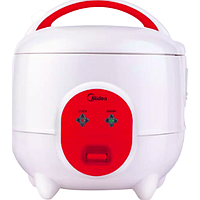 MIDEA MINI RICE COOKER (0.6L) (300W) (WHITE / RED) MMR06-R